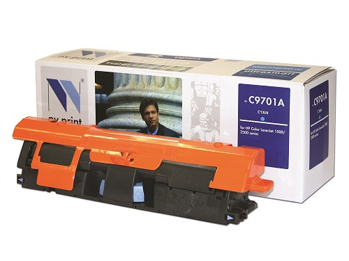 Совместимый картридж NV Print для HP C9701A (4000 стр., голубой)