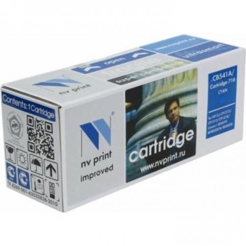 Совместимый картридж NV Print для HP CB541A/Canon 716 Cyan (1400 стр., голубой)