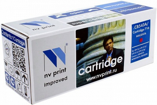 Совместимый картридж NV Print для HP CB543A/Canon 716 Magenta (1400 стр., пурпурный)