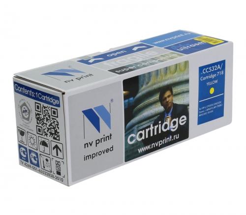 Совместимый картридж NV Print для HP CC532A/Canon 718 Yellow (2800 стр., желтый)