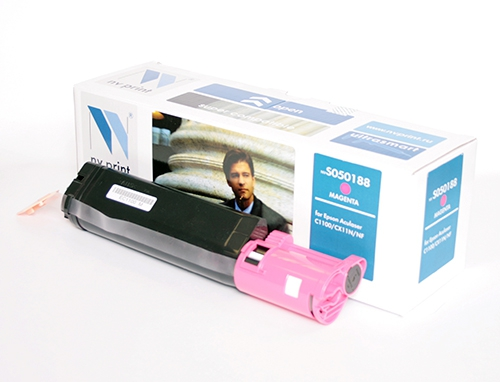 Совместимый картридж NV Print для Epson S050188 (4000 стр., пурпурный)