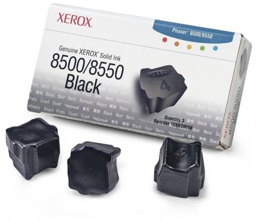 108R00668 Чернила черные Phaser8500/8550, 3 x 1000 стр.