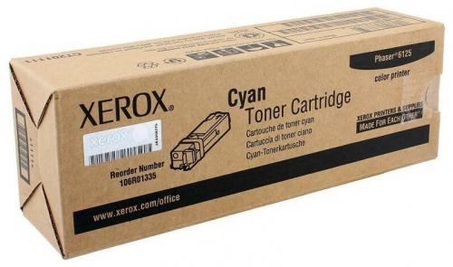 Оригинальный тонер-картридж Xerox 106R01335 (1000 стр., голубой)