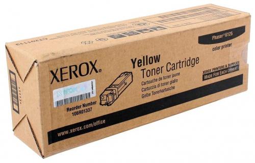 Оригинальный тонер-картридж Xerox 106R01337 (1000 стр., желтый)