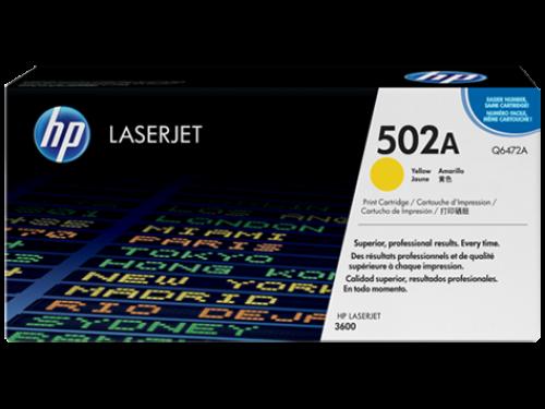 (Уценка) ОРИГИНАЛЬНЫЙ КАРТРИДЖ HP Q6472A (502A) (4000 СТР., ЖЁЛТЫЙ) ДЛЯ HP COLOR LASERJET CP3505 / 3600 / 3600DN / 3600N / 3800