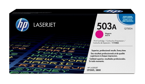 ОРИГИНАЛЬНЫЙ КАРТРИДЖ HP Q7583A (503A) (6000 СТР., ПУРПУРНЫЙ) ДЛЯ HP COLOR LASERJET CP3505 / ?3800