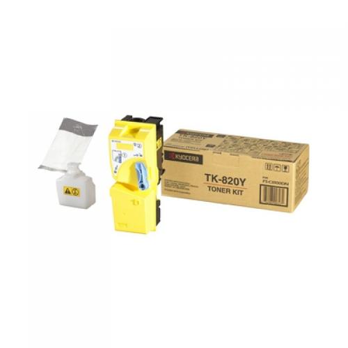 (Уценка)Тонер-картридж Kyocera TK-825Y - НТВ-1 для KM C2520/C2525E/3225/3232  желтый  (7 000 стр.)