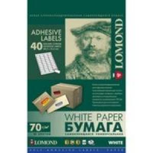 Самоклеящаяся бумага LOMOND универсальная для этикеток, A4, 40 делен. (48.5 x 25.4 мм), 70 г/м2,(1650л.)