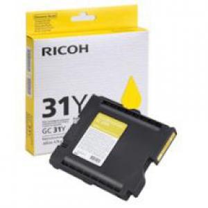 Оригинальный принт-картридж Ricoh тип GC 31Y (1000 стр., желтый)