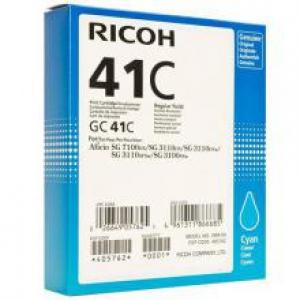 Оригинальный принт-картридж Ricoh тип GC 41C (2200 стр., голубой)