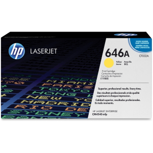 (Уценка) CF032A - НТВ-1 Картридж HP 646A для Color LaserJet CM4540f, CM4540fskm желтый (12 500 стр.)