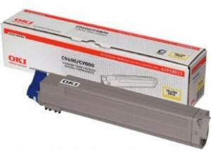 Оригинальный тонер-картридж OKI C9600/9800/9650 (15000 стр., желтый)