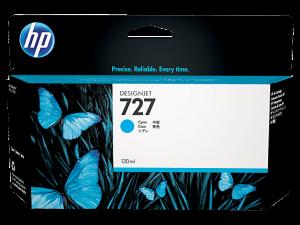 (Акция) Оригинальный картридж HP B3P19A (727) (130 мл., голубой)