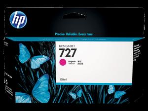 (Акция) Оригинальный картридж HP B3P20A (727) (130 мл., пурпурный)