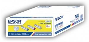 Комплект оригинальных картриджей EPSON C13S050289 (3 * 2000 стр., голубой, пурпурный, желтый)