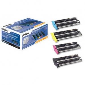 Комплект оригинальных картриджей EPSON C13S051110 (4500 стр., черный/ 1500 стр., пурпурный, голубой, желтый)