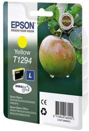 Картридж струйный Epson C13T12944012 желтый оригинальный