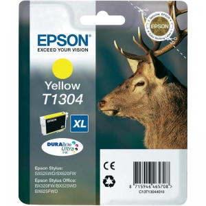 Оригинальный картридж EPSON T1304 (955 стр., желтый)