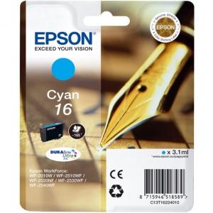 Оригинальный картридж EPSON 16 (165 стр., голубой)