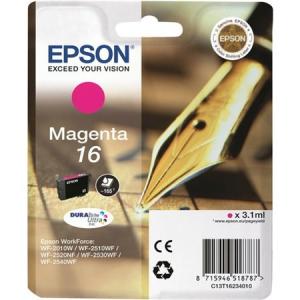 Оригинальный картридж EPSON 16 (165 стр., пурпурный)