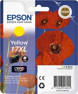 Оригинальный картридж EPSON 17XL (450 стр., желтый)