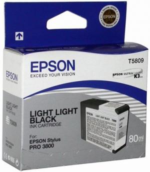 Оригинальный картридж EPSON T5809 (80 мл., светло-серый)