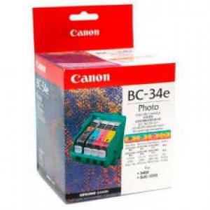 Оригинальный картридж CANON BC-34 (3000 стр., черный + голубой + пурпурный + желтый)
