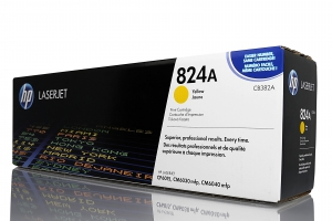 (Уценка) Картридж HP CB382A - НТВ-1 для Color LaserJet CP6015, CM6030, CM6040  желтый  (19 500 стр.)
