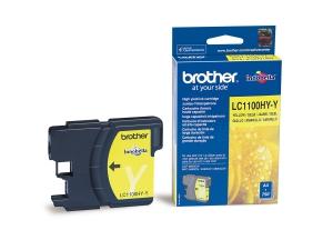 Оригинальный картридж BROTHER LC1100HYY (750 стр., желтый)