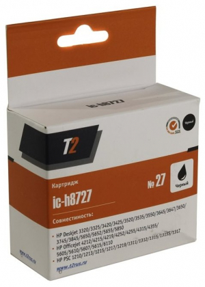 C8727HE T2 Картридж (IC-H8727) №27 для HP Deskjet 3320/3520/3550/5650/1210/1315/Officejet 43