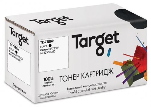Совместимый картридж Target Cartridge 718Bk (Чёрный, 3500 стр.)